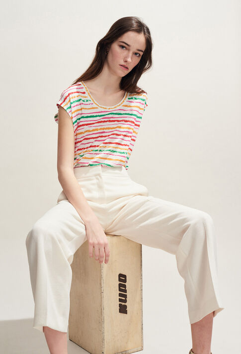 TAHITIENNE : T-shirts couleur MULTICO