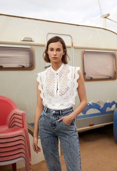 BINGO : Tops et Chemises couleur Ecru