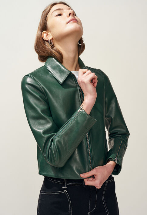 CAYCE : Manteaux et Blousons couleur VERT IMPERIAL