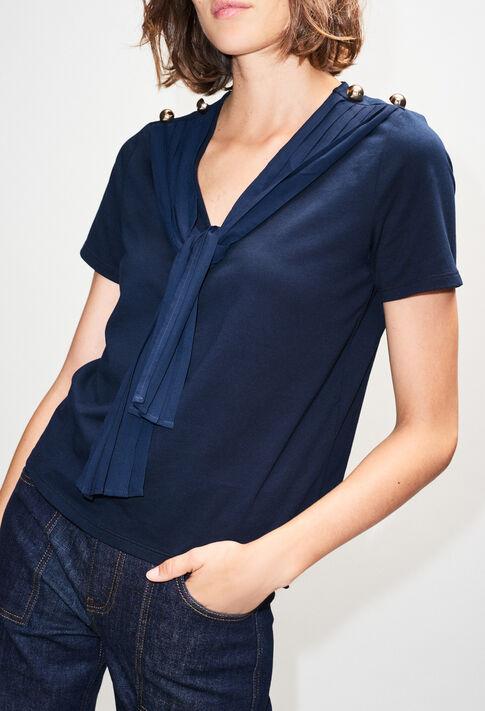 TINH19 : T-Shirts couleur MARINE