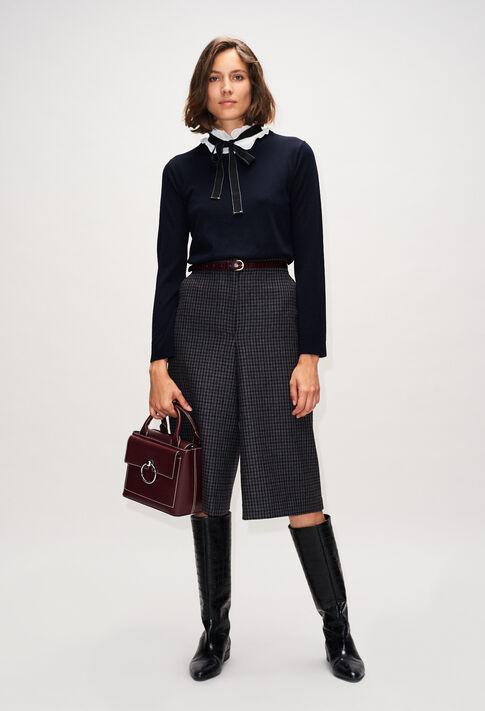 MADAMEbisH19 : Maille & Sweatshirts couleur MARINE