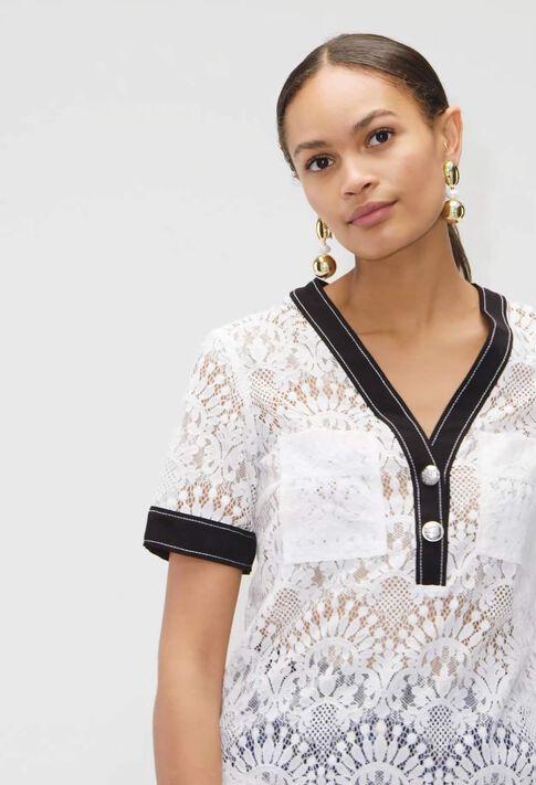 BANKSIAH19 : Tops et Chemises couleur ECRU