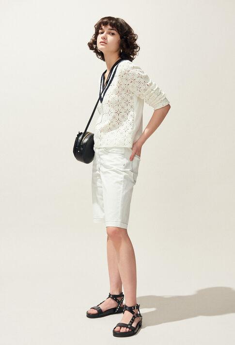 EMY : Jupes et Shorts couleur Ecru