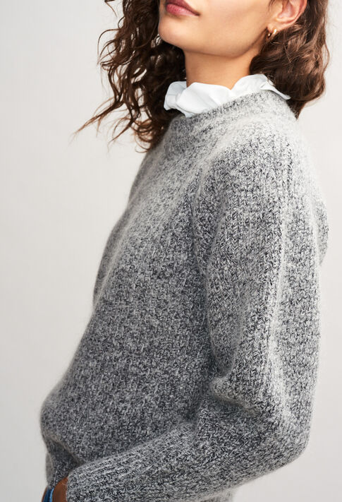 MATUREH19 : Maille & Sweatshirts couleur GRIS CHINE CLAIR