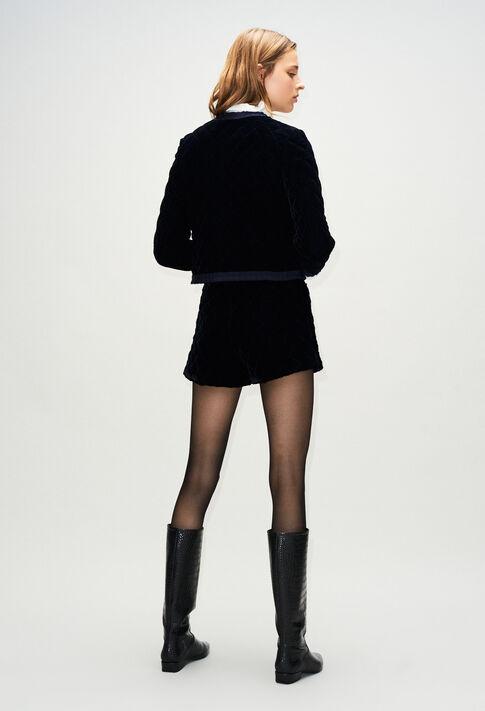 VELOUTEH19 : Vestes couleur MARINE