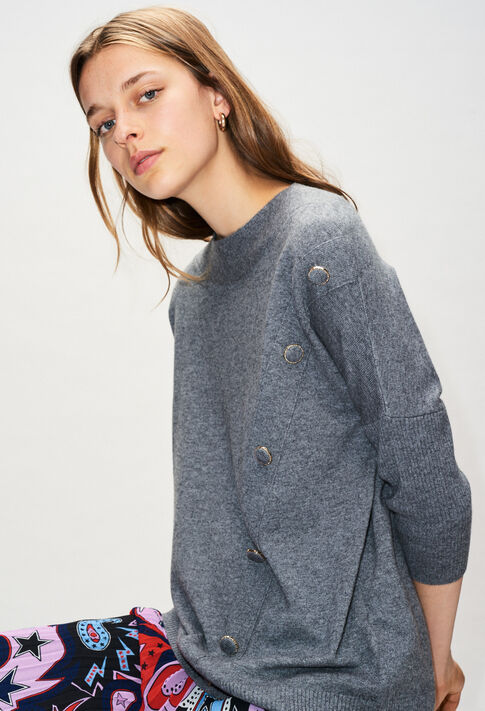 MARYH19 : Maille & Sweatshirts couleur GRIS CHINE FONCE