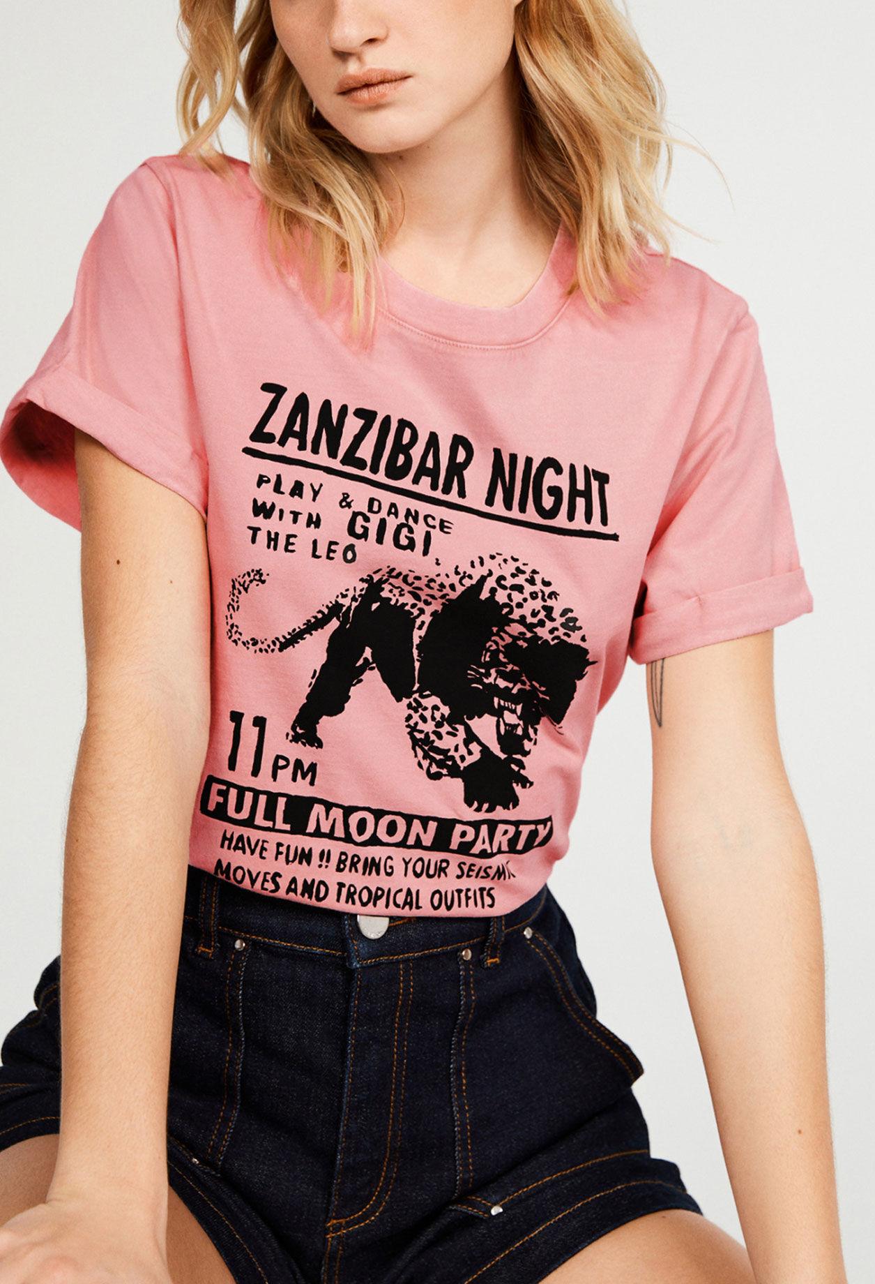 끌로디피에로 티셔츠 Claudie Pierlot T-shirt en coton biologique,ROSE