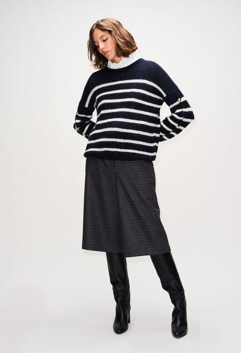 MAYAH19 : Maille & Sweatshirts couleur MARINIERE
