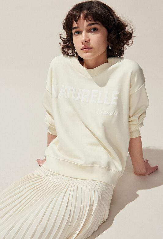 TESCHIC : Maille & Sweatshirts couleur IVOIRE