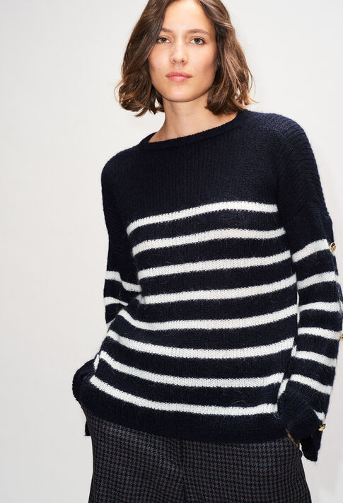 MAYAH19 : Maille & Sweatshirts couleur MARINIERE