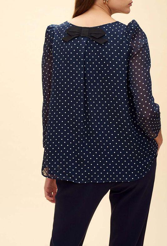 9e0bbc25dfa62 Tops   Chemises femme   col claudine, imprimé   Claudie Pierlot