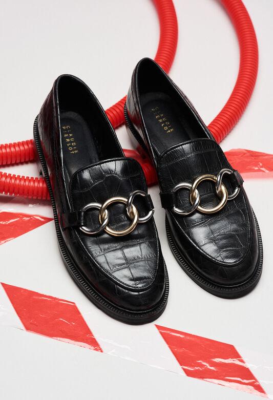 ACCORDCROCOH19 : Chaussures couleur NOIR