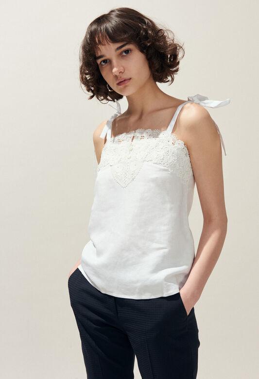 b2f6caca30b Tops   Chemises femme   col claudine
