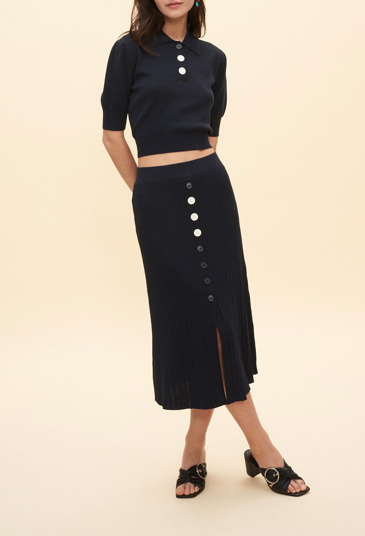 Jupes & shorts femme : jupe imprimée, retro | Claudie Pierlot
