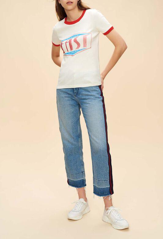 T-shirts femme   t shirt nœud, t-shirt marinière   Claudie Pierlot eef0a6f0a6b7