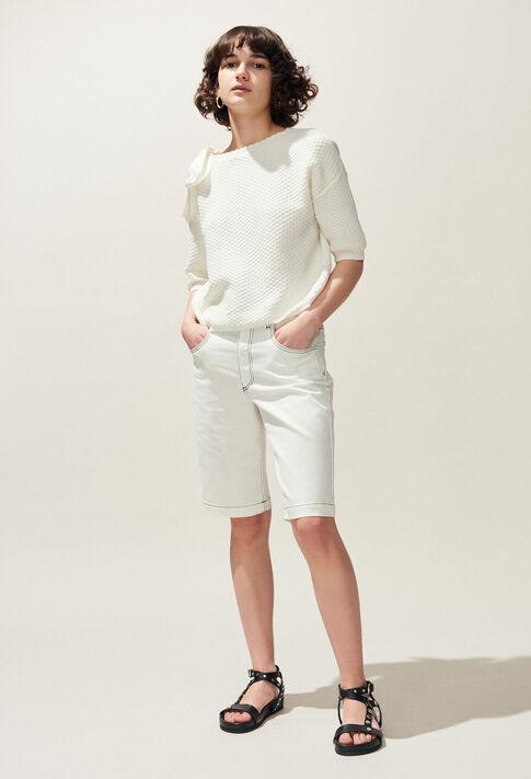 MAGDA : Mailles & Sweatshirts couleur Ecru