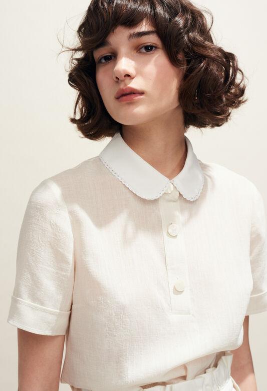 dfbf013abe9 Tops   Chemises femme   col claudine