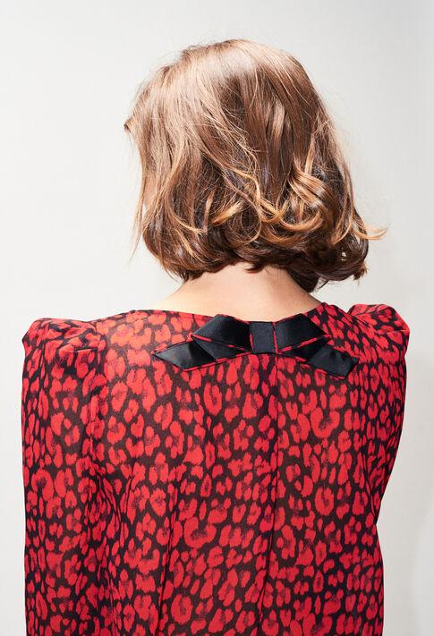 BANCLEOPARDH19 : Tops et Chemises couleur CERISE