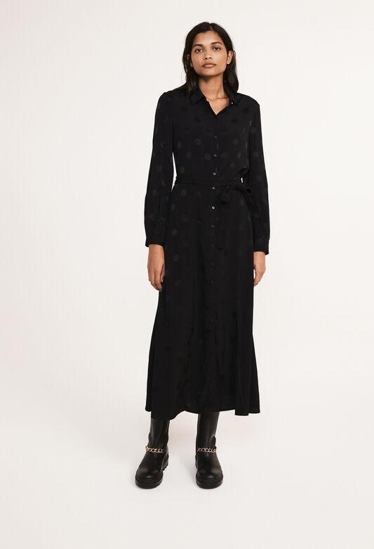 끌로디 피에로 셔츠 원피스 Claudie Pierlot Robe-chemise longue,NOIR