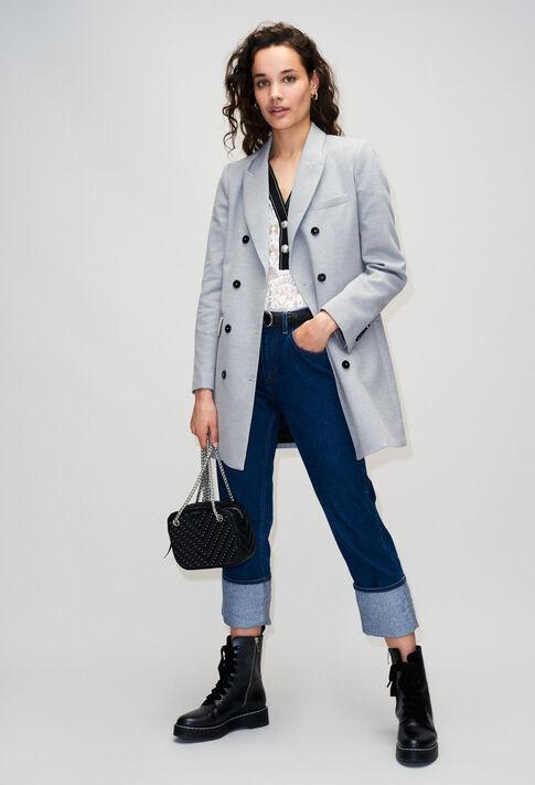 GINOH19 : Manteaux et Blousons couleur GRIS CHINE CLAIR