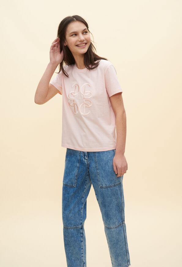 TICIAE20 : T-Shirts couleur ROSE PALE