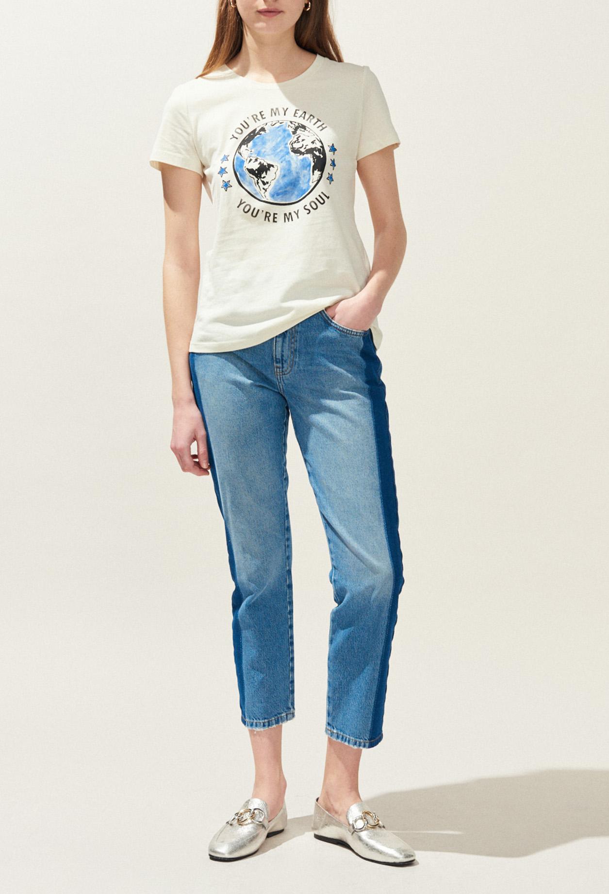 a21d906f8 T shirt sérigraphié earth
