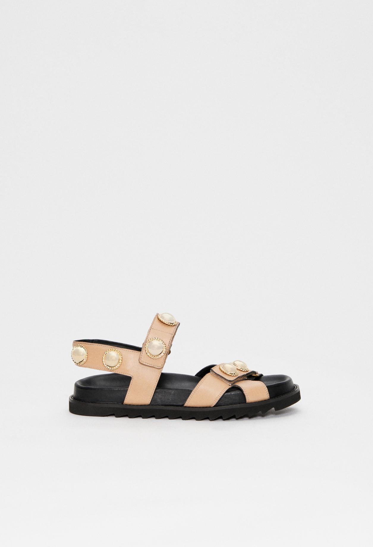 Sandales à brides en cuir responsable