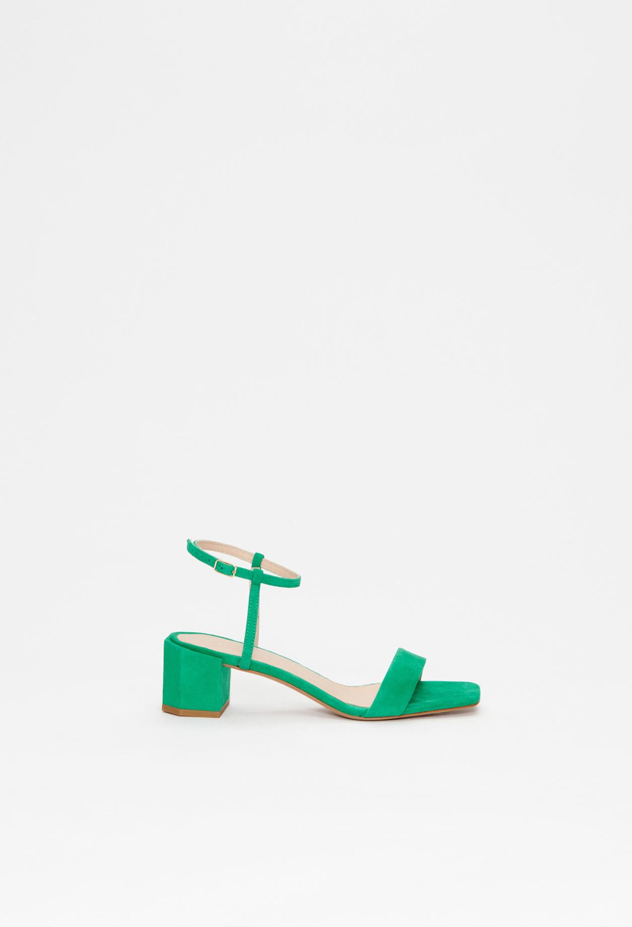 Sandales à talons en cuir responsable