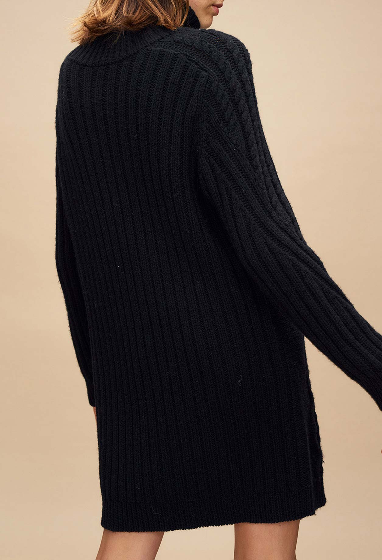 usine authentique 01934 9c513 Robe pull col roulé maille irlandaise